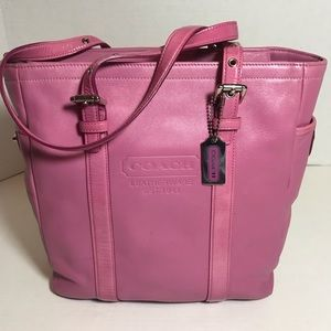 Coach Adjustable Pink Leather Tote Like New!